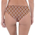 WOVEN2 WHITE MARBLE & RUSTED METAL Reversible Classic Bikini Bottoms View2