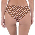WOVEN2 WHITE MARBLE & RUSTED METAL Reversible Classic Bikini Bottoms View4