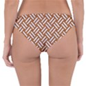WOVEN2 WHITE MARBLE & RUSTED METAL Reversible Hipster Bikini Bottoms View2