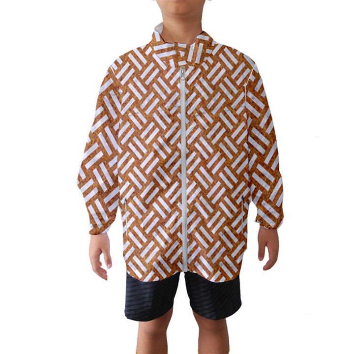 WOVEN2 WHITE MARBLE & RUSTED METAL Wind Breaker (Kids)