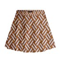 WOVEN2 WHITE MARBLE & RUSTED METAL Mini Flare Skirt View1