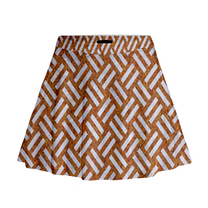 WOVEN2 WHITE MARBLE & RUSTED METAL Mini Flare Skirt