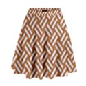 WOVEN2 WHITE MARBLE & RUSTED METAL High Waist Skirt View1