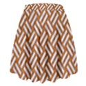 WOVEN2 WHITE MARBLE & RUSTED METAL High Waist Skirt View2