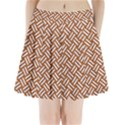 WOVEN2 WHITE MARBLE & RUSTED METAL Pleated Mini Skirt View1
