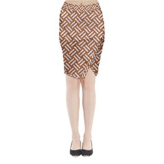 Woven2 White Marble & Rusted Metal Midi Wrap Pencil Skirt