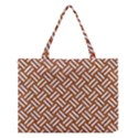 WOVEN2 WHITE MARBLE & RUSTED METAL Medium Tote Bag View1