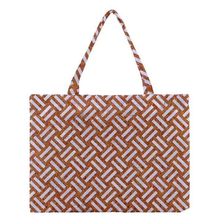 WOVEN2 WHITE MARBLE & RUSTED METAL Medium Tote Bag