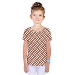 Woven2 White Marble & Rusted Metal Kids  One Piece Tee