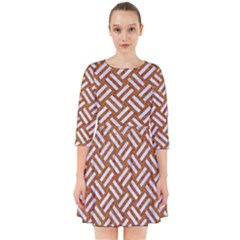 Woven2 White Marble & Rusted Metal Smock Dress