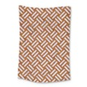 WOVEN2 WHITE MARBLE & RUSTED METAL Small Tapestry View1