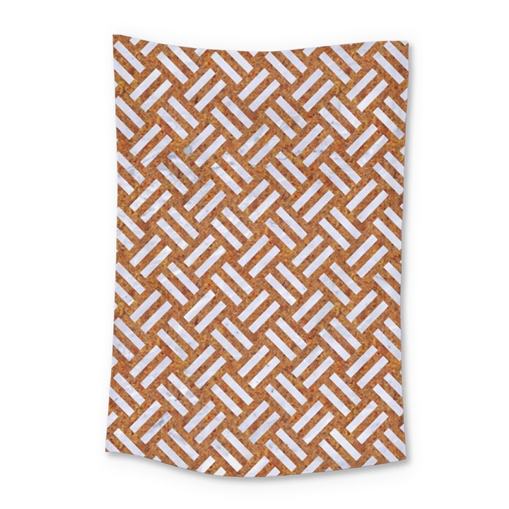 WOVEN2 WHITE MARBLE & RUSTED METAL Small Tapestry