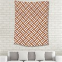 WOVEN2 WHITE MARBLE & RUSTED METAL Medium Tapestry View2