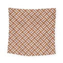 WOVEN2 WHITE MARBLE & RUSTED METAL Square Tapestry (Small) View1