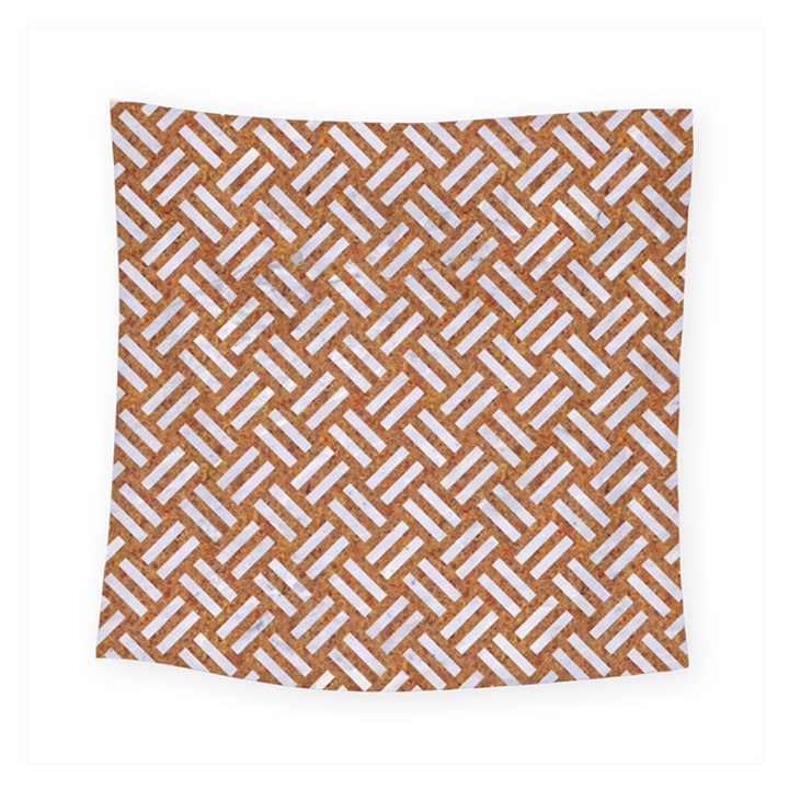 WOVEN2 WHITE MARBLE & RUSTED METAL Square Tapestry (Small)