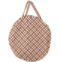 WOVEN2 WHITE MARBLE & RUSTED METAL Giant Round Zipper Tote View1