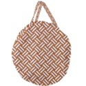 WOVEN2 WHITE MARBLE & RUSTED METAL Giant Round Zipper Tote View2