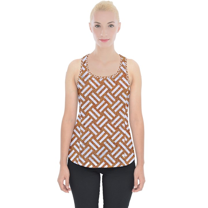WOVEN2 WHITE MARBLE & RUSTED METAL Piece Up Tank Top