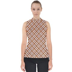 Woven2 White Marble & Rusted Metal Shell Top