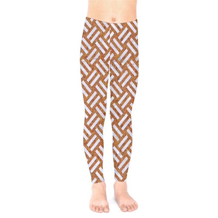 WOVEN2 WHITE MARBLE & RUSTED METAL Kids  Legging