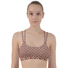 Woven2 White Marble & Rusted Metal Line Them Up Sports Bra