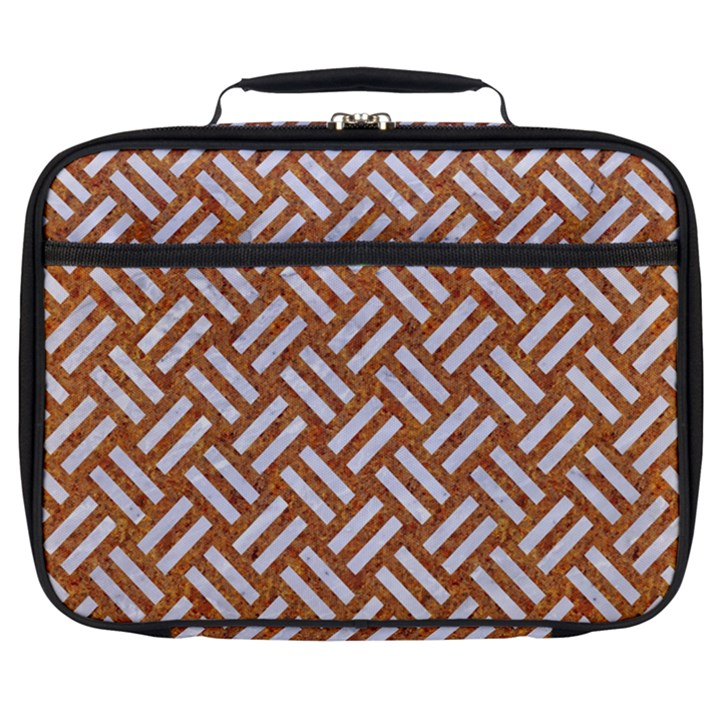 WOVEN2 WHITE MARBLE & RUSTED METAL Full Print Lunch Bag