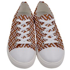 Woven2 White Marble & Rusted Metal Women s Low Top Canvas Sneakers