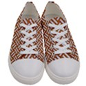 WOVEN2 WHITE MARBLE & RUSTED METAL Women s Low Top Canvas Sneakers View1