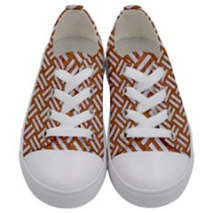 Woven2 White Marble & Rusted Metal Kids  Low Top Canvas Sneakers