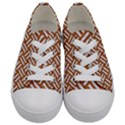 WOVEN2 WHITE MARBLE & RUSTED METAL Kids  Low Top Canvas Sneakers View1
