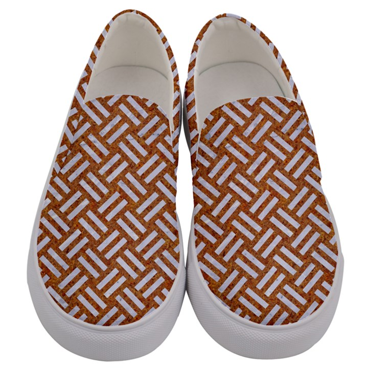 WOVEN2 WHITE MARBLE & RUSTED METAL Men s Canvas Slip Ons