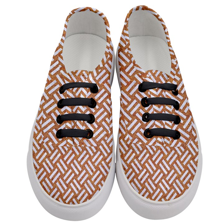 WOVEN2 WHITE MARBLE & RUSTED METAL Women s Classic Low Top Sneakers