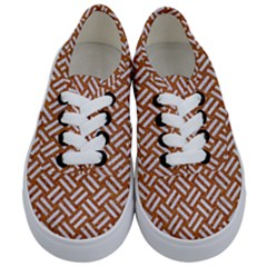 Woven2 White Marble & Rusted Metal Kids  Classic Low Top Sneakers