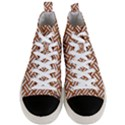 WOVEN2 WHITE MARBLE & RUSTED METAL Men s Mid-Top Canvas Sneakers View1