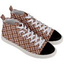 WOVEN2 WHITE MARBLE & RUSTED METAL Men s Mid-Top Canvas Sneakers View3