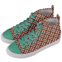 WOVEN2 WHITE MARBLE & RUSTED METAL Women s Mid-Top Canvas Sneakers View2