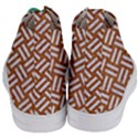 WOVEN2 WHITE MARBLE & RUSTED METAL Women s Mid-Top Canvas Sneakers View4