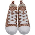 WOVEN2 WHITE MARBLE & RUSTED METAL Kid s Mid-Top Canvas Sneakers View1