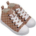 WOVEN2 WHITE MARBLE & RUSTED METAL Kid s Mid-Top Canvas Sneakers View3