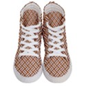 WOVEN2 WHITE MARBLE & RUSTED METAL Women s Hi-Top Skate Sneakers View1