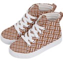 WOVEN2 WHITE MARBLE & RUSTED METAL Kid s Hi-Top Skate Sneakers View2