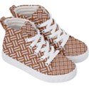 WOVEN2 WHITE MARBLE & RUSTED METAL Kid s Hi-Top Skate Sneakers View3