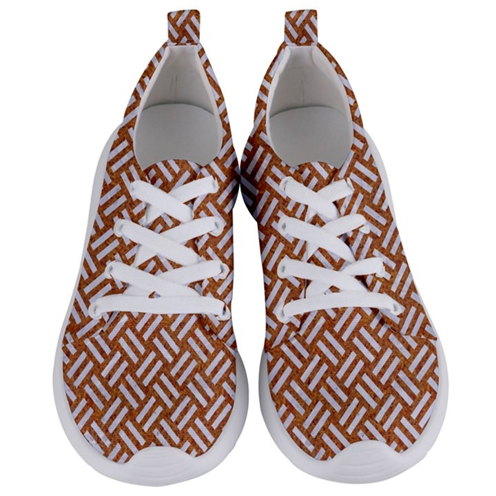 WOVEN2 WHITE MARBLE & RUSTED METAL Women s Lightweight Sports Shoes