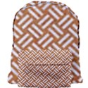 WOVEN2 WHITE MARBLE & RUSTED METAL Giant Full Print Backpack View1