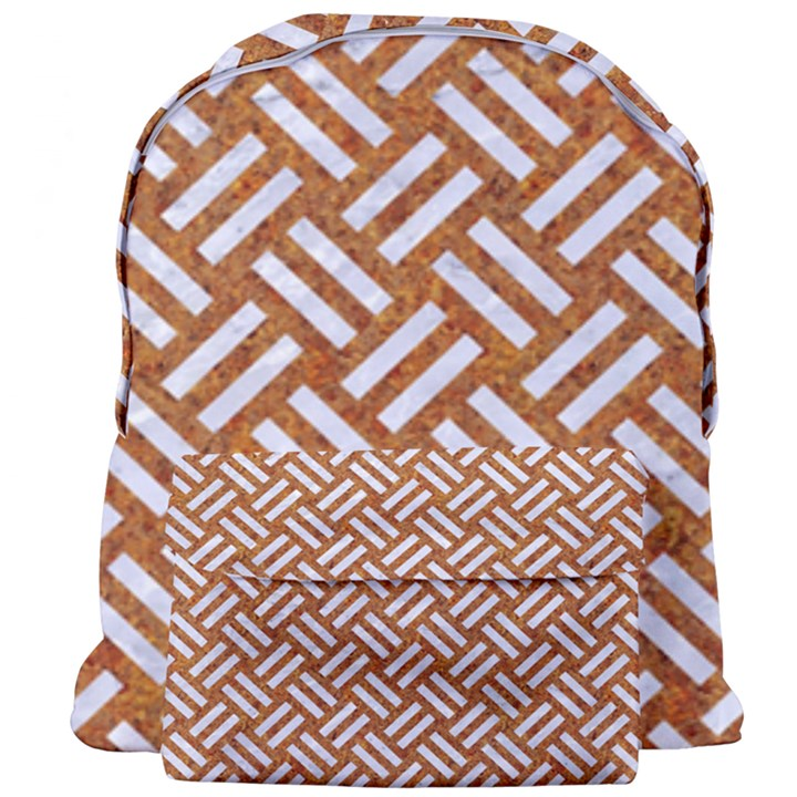 WOVEN2 WHITE MARBLE & RUSTED METAL Giant Full Print Backpack