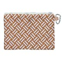 WOVEN2 WHITE MARBLE & RUSTED METAL Canvas Cosmetic Bag (XL) View2