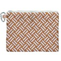 WOVEN2 WHITE MARBLE & RUSTED METAL Canvas Cosmetic Bag (XXL) View1