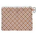 WOVEN2 WHITE MARBLE & RUSTED METAL Canvas Cosmetic Bag (XXL) View2