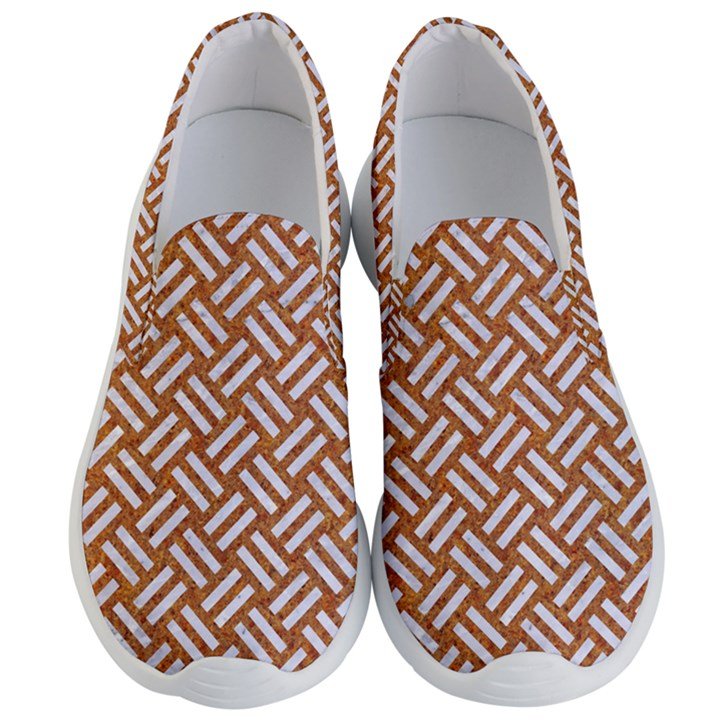 WOVEN2 WHITE MARBLE & RUSTED METAL Men s Lightweight Slip Ons