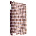 WOVEN1 WHITE MARBLE & RUSTED METAL (R) Apple iPad 3/4 Hardshell Case View2